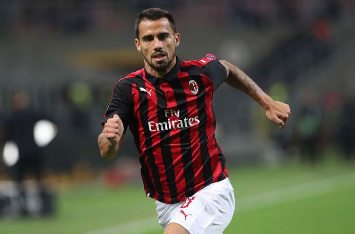 Suso in action for AC Milan